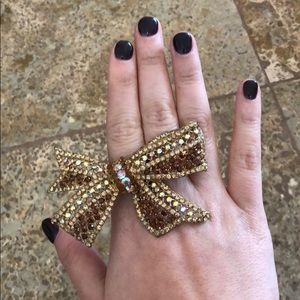 Bow jeweled ring